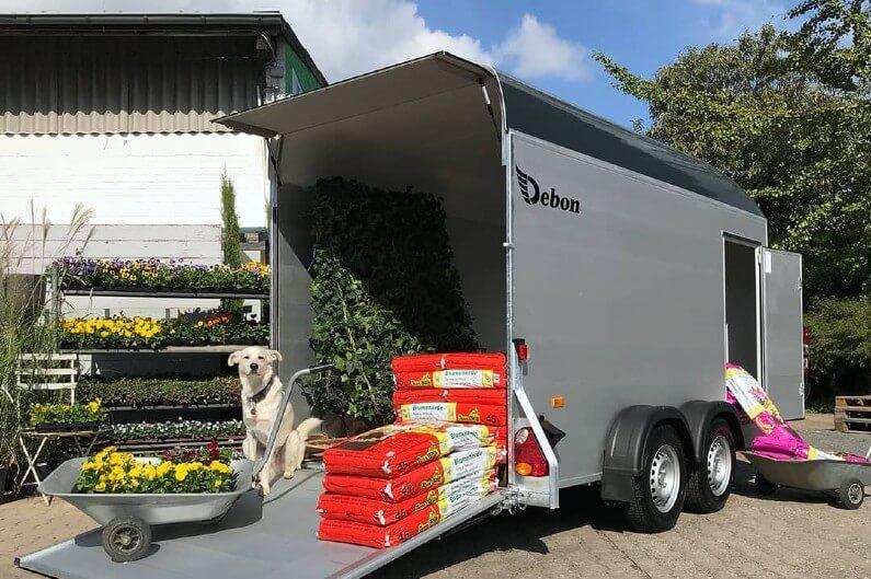 Debon skaphenger R500 XL som gartnervogn